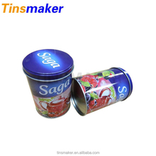 Latest design colorful round small metal food candy tin box