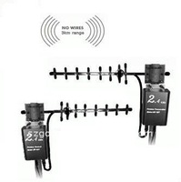 Outdoor wireless, long range audio video transmitter and receiver