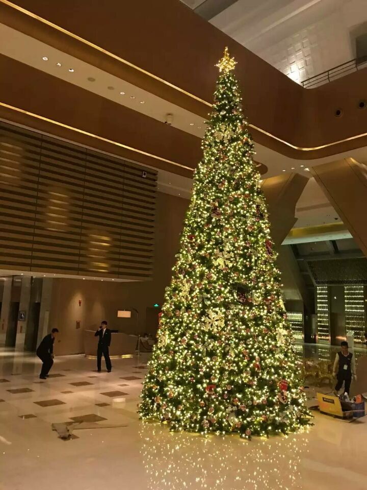 Outdoor garden shopping mall  decoration 8 meters Giant Artificial Christmas Trees