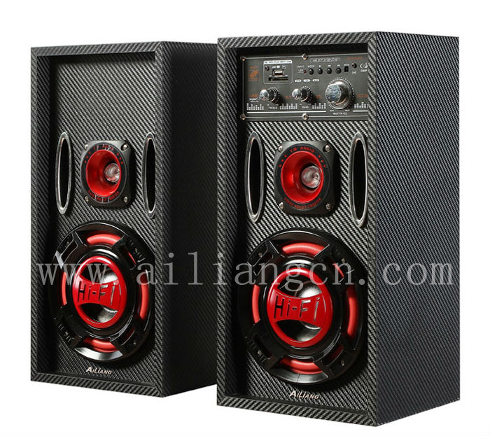 AILIANG professional stage audio speaker with woofer USBFM-M61DC/2.0