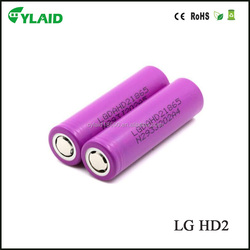 Wholesale Original LGDAHD2 LG 18650 LG HD2 2000Mah 3.7V Rechargeble Li-ion Battery PK cylaid 18650 dry cell battery