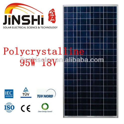 95w poly Solar panel module with IEC,TUV,CE,CEC,ISO from Zhejiang Ningbo Manufacturer factory