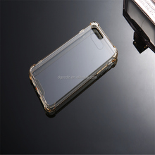For iphone 7 plus, Hard back plastic PC+Tpu Crystal Clear Hard Phone Case