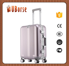Luxury Aluminum Magnesium Metal trolley travel hardshell suitcase luggage bag