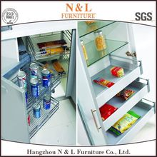 Kitchen Cabinet Free Design Base/Wall Cabinets White Melamine Kitchen Cabinet, Fabricated Home