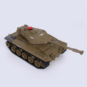 plastic toys 1:30 infrared shooting military battle rc tank