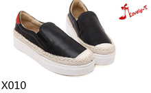 women female comfortable walking travel PU upper rubber thick sole platform espadrilles slip on shoes 2016
