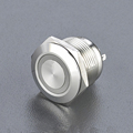 Ring -illuminated IP40/IP67 5A small touch pushbutton/ 36 volt push button switch