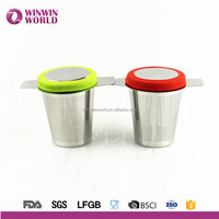 New Product 2016 Unique Stainless Steel Tea Infuser Steeper Strainer With Handle