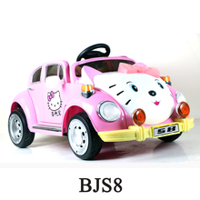 Pink Cotton design ride on car 12v 2017,hello kitty car,kids electric cars for 10 year olds