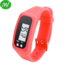 Cheap Promotional Multifunctions Silicone Pedometer Bracelet