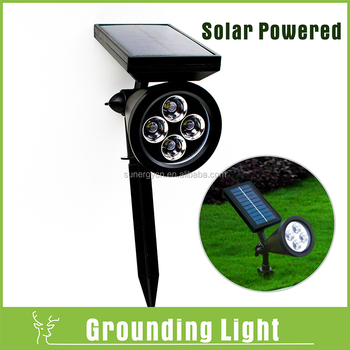 Waterproof 4 Pcs Led Solar Spot Light Decoration Outdoor Garden ...