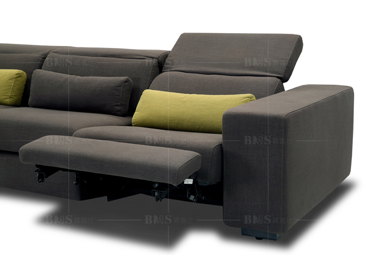 Modern Replica recliner sofa set three seat with chaise
