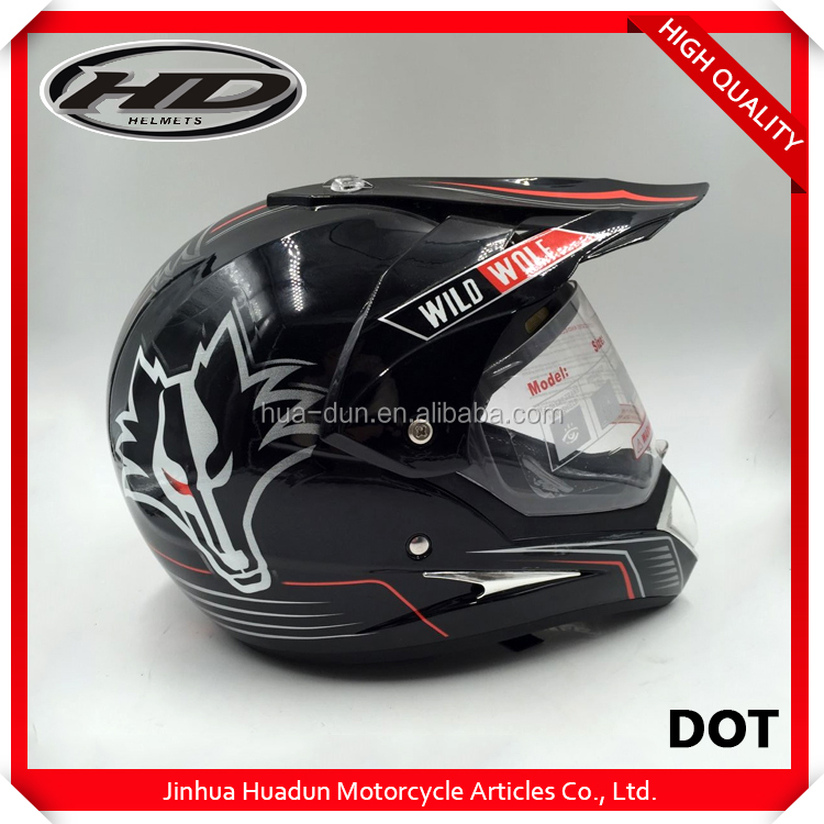Factory customized cheap UV painting HD-803 various function motorbike helmet