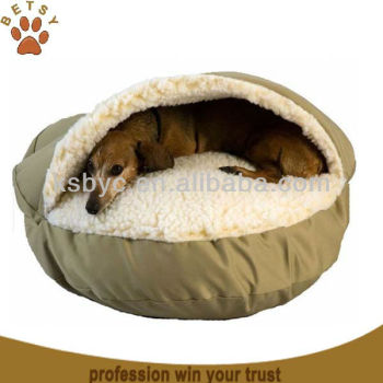Hoodied Cave Dog Bed