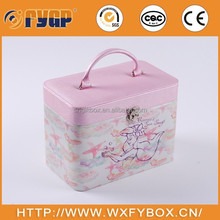 hand made fashion Luxury pu leather professional beauty cosmetic display case make up box for ladies