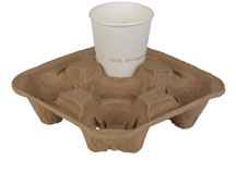 100% biodegradable paper cup tray/cup drink carriers