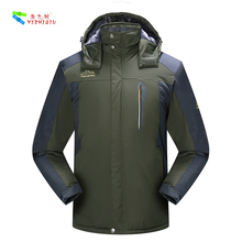 YIZHIQIU Winter Design hooded Oversized 5XL Waterproof Rain Jacket Men