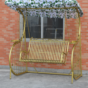Outdoor Patio Garden Antique Metal Wrought Cast Iron Swing