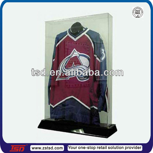 TSD-A544 custom clear acrylic jersey display case,jersey display stand,jersey display box