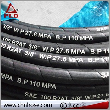 Flexible hose high& middle pressure synthetic fiber braided resin hose r7 r8