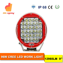 "2016 hot selling in australia wholesale 6000K IP68 Emark 96w 9inch led off road driving lights led work light 9"" worklight"