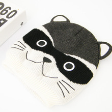 Wholesale custom winter cute Animal beanie hat with ears in jacquard and embroidered pattern