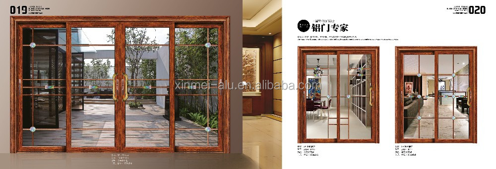 Hot Sale Extured Aluminium Profiles 6063 T5/T6 Latest Sliding Window and Door Frame