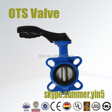 pipe connection DN80 wafer butterfly valve from factory PN16 working pressure