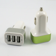 Hot Selling Multi 3 Port USB Car Charger Battery for Cell Phone 12V 2.1A 3.1A 5.1A