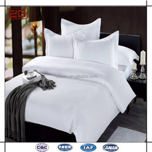 2017 New Luxury Design Double Stitching 100 Cotton Plain White Hotel Bed Sheet