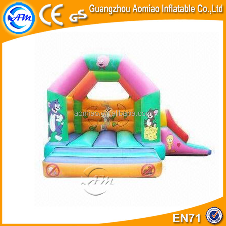 Cartoon design inflatable jumping bouncer, simple trampoline minion bounce house