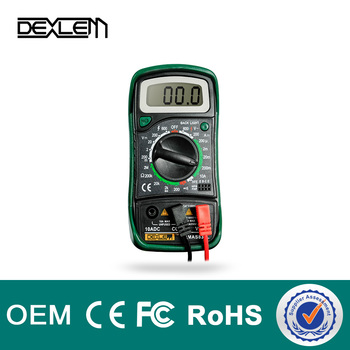 DELE MA-S830L testing transistors with digital multimeter manual CE certification