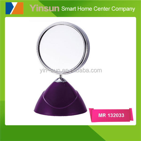 Table double sides magnification round makeup mirror