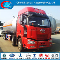 31ton Faw LPG trucks 8X4 Faw heavy duty LPG 55cbm tanker trucks 12 WHEELS FAW used lpg road tanker