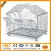 Alibaba metal wire mesh container used, storage cage with wheels used