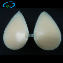 Artificial Soft Sexy Boobs One Piece Silicone Breast Forms With Red Nipple