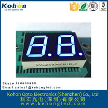 ROHS approved and long life blue 2 digit 1.0 inch LED digital display