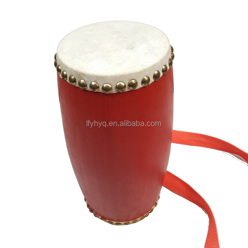 Chinese red waist drum kit music instruments