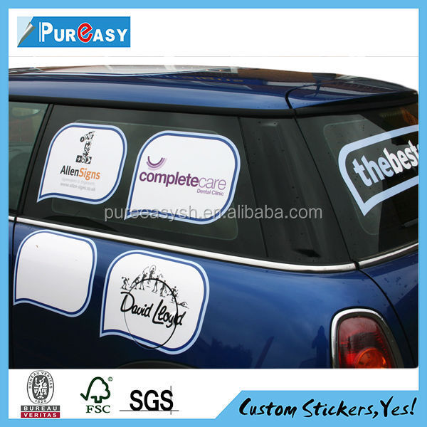 Custom Decal static cling car window sticker