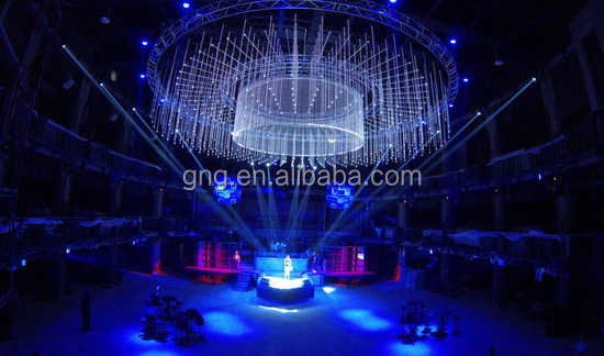 3d effect led star falling light madrix dvi disco lighting dmx pixel led tube