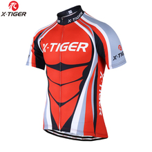 X-Tiger Brand Men cycling jerseys/Summer Breathable Bicycle Sportswear/wholesale Polo shirts Cycling Clothing