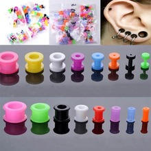 Colourful UV Acrylic Ear Flesh Tunnels Expander Stretcher Earrings Plugs