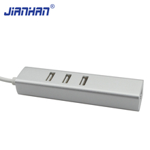 USB 3.1 Type C to 3 Ports USB 2.0 HUB with RJ45 Ethernet Network for New MacBook ChromeBook