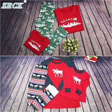 Winter christmas printed cheap matching xmas pjs for the whole family