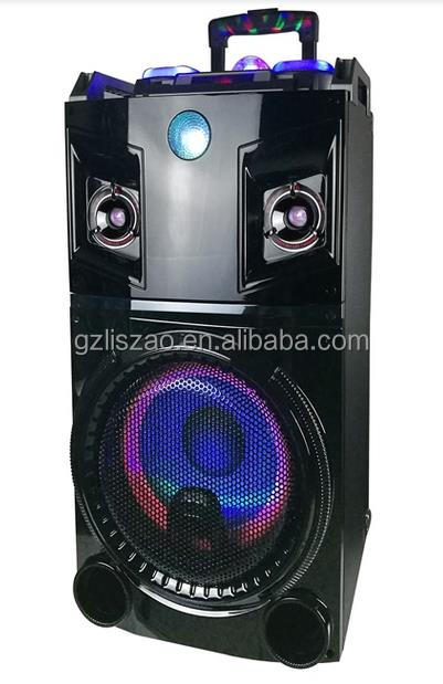 single 10inch woofer dvd speaker with monitor usb,sd,microphone,handle,wheels