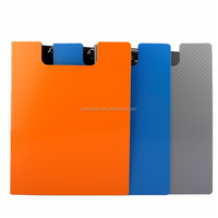 2015 New arrival Office & School used double sided clip board pp high quality clipboard with cover