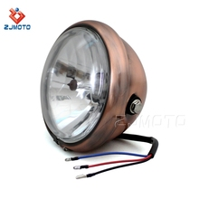 Motorcycle H4 12V 60/55W Steel Headlamp Headlight For Harley Choppers Crusiers Cafe Racers Trikes Head Light