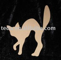 Arching Cat wooden christmas decoration