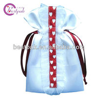 2013 hot sale new arrival custom made silk drawstring bag